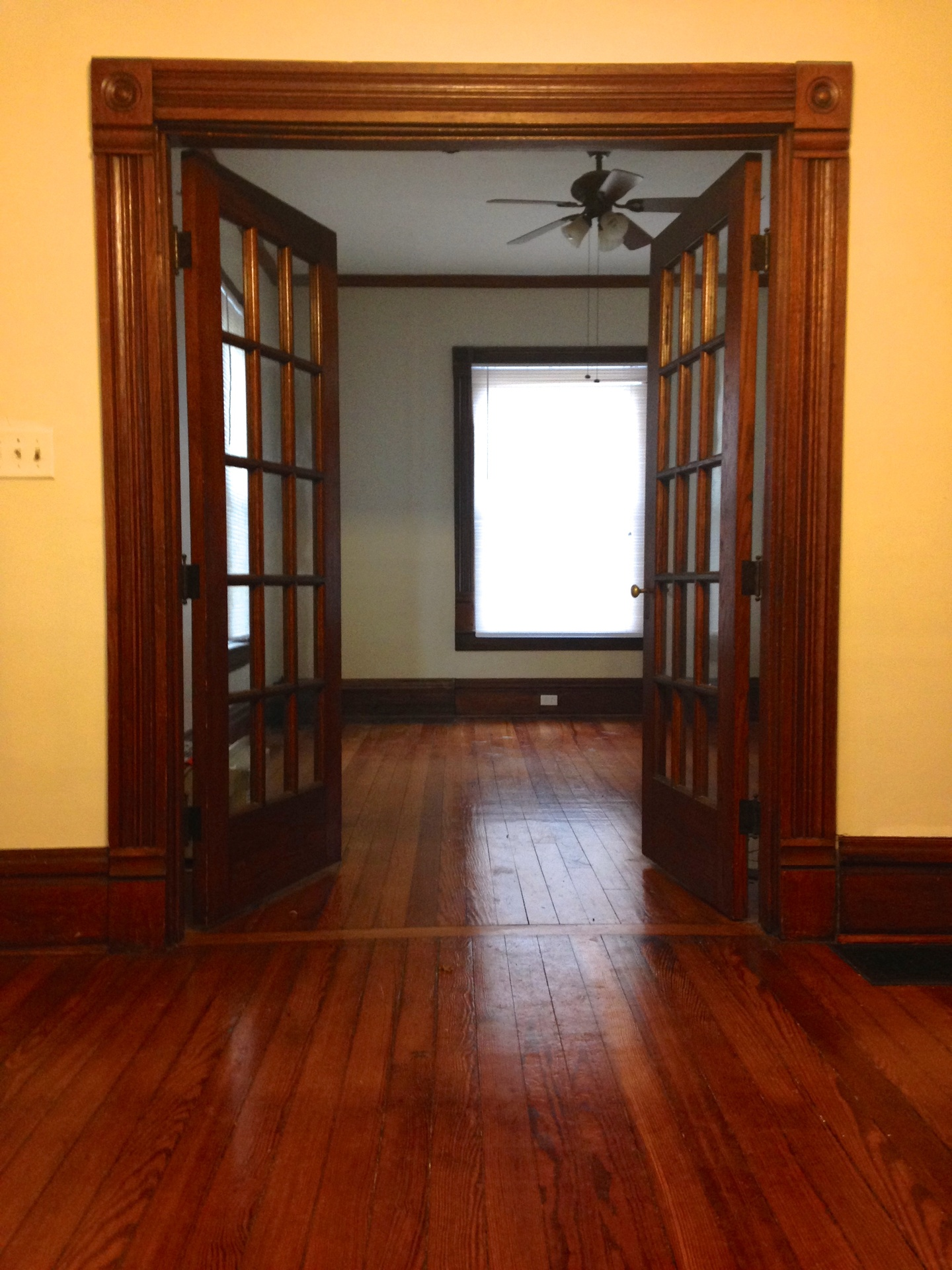 French doors to Library